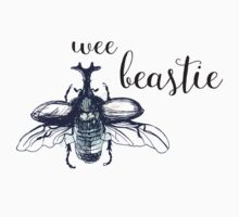 Wee Beastie Watercolor Insect One Piece - Short Sleeve
