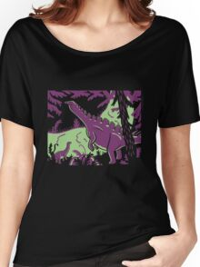 Long Necks - Green and Purple Women's Relaxed Fit T-Shirt