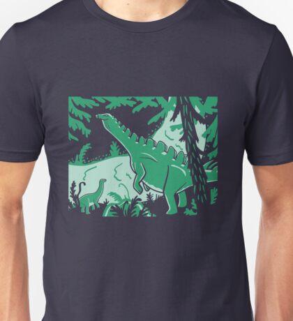 Long Necks - Blue and Green Unisex T-Shirt