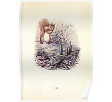 The Tale of Squirrel Nutkin Beatrix Potter 1903 0045 Bowling with Crab Apples and Green Fir Cones Poster