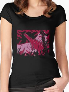 Long Necks - Lavender and Pink Women's Fitted Scoop T-Shirt