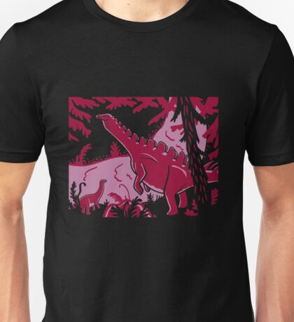 Long Necks - Lavender and Pink Unisex T-Shirt