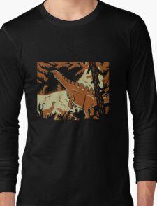 Long Necks - Tan and Orange Long Sleeve T-Shirt