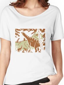 Long Necks - Tan and Orange Women's Relaxed Fit T-Shirt