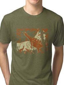 Long Necks - Tan and Orange Tri-blend T-Shirt