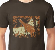 Long Necks - Tan and Orange Unisex T-Shirt