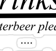 drinks?butterbeer Sticker