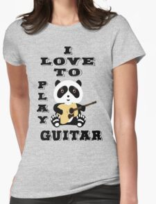 i love to play guitar design t-shirt Womens Fitted T-Shirt