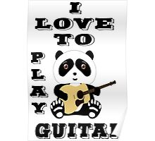 i love to play guitar design t-shirt Poster