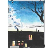 Condos at Dusk Watercolour Landscape Painting iPad Case/Skin