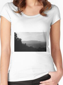 Blue Ridge Mountains, Virginia Women's Fitted Scoop T-Shirt
