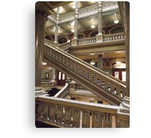 Stairs, Providence City Hall Canvas Print