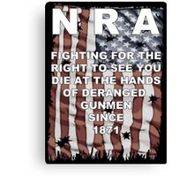 Stop the NRA Canvas Print