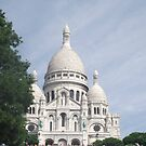 Sacre Coeur in the Summer by Katie Vickery