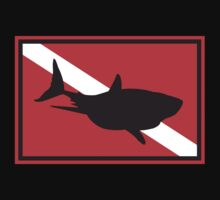 SCUBA Shark Dive Flag by SportsT-Shirts