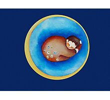 Moon Dreams with the sleeping child  Photographic Print