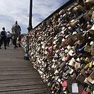 Pont des Arts Love Locks by Katie Vickery