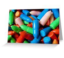 Bubble Gum Bullets Greeting Card