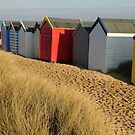 Beach Huts, Southwold, Suffolk by Christopher Cullen
