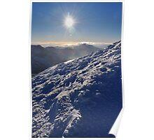 Snow and Sun high on Carrauntohil (Corrán Tuathail) Poster
