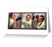 Three Photographers Greeting Card