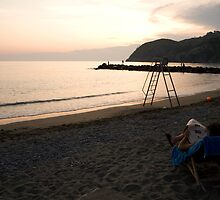 Levanto Beach by Ian Middleton