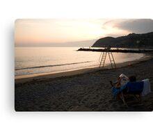 Levanto Beach Canvas Print
