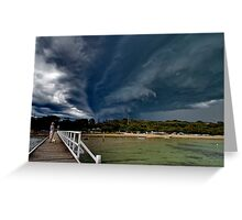 Storm front approaching Cameron's Bight Greeting Card