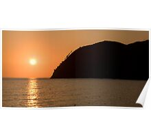 Levanto sunsets Poster