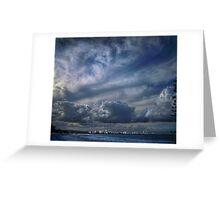 gold coast skyline Greeting Card