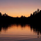 Killarney: Sunset Silhouette,  Balsam Lake by Skye Hohmann