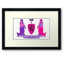 Homosexual Crest (Women) Framed Print