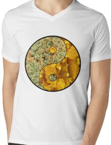 Ying Yang Mens V-Neck T-Shirt