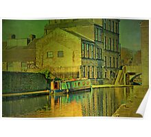 Canal At Skipton Poster