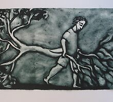 Metaphor - Man dragging an uprooted tree by shanajames