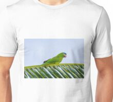 Parrot on a palm Unisex T-Shirt