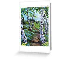 A walk into Spring Greeting Card