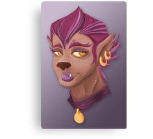 Purple WereWolf Canvas Print