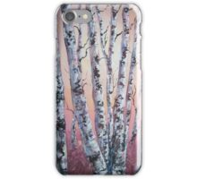 Birch tree abstract iPhone Case/Skin