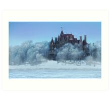 Frosted Castle Art Print