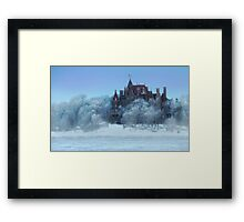 Frosted Castle Framed Print