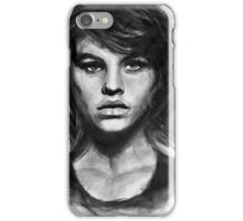 Barbara, charcoal sketch iPhone Case/Skin