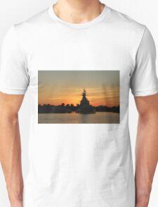 Battleship At Sunset T-Shirt