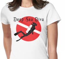 "SCUBA ""Diva"" Womens Fitted T-Shirt"