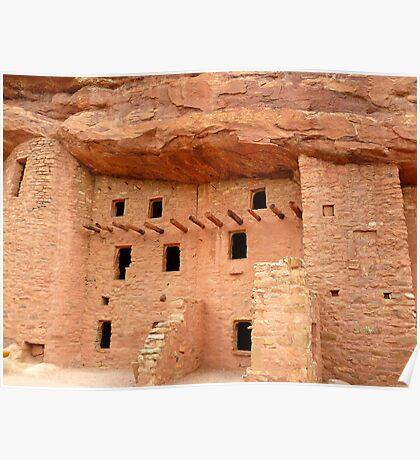Pueblo Cliff Dwellings, Manitou Springs, Colorado Poster