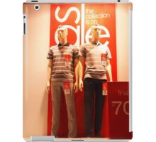 Two male mannequin in a glass case iPad Case/Skin