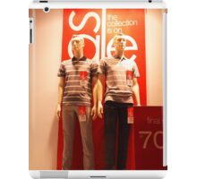 Two male mannequin in a showcase iPad Case/Skin