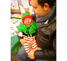 Tired Little Christmas Elf Photographic Print