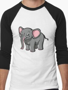 Cartoon elephant Men's Baseball ¾ T-Shirt