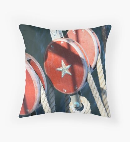 Nautical Trio - USCG Barque Eagle Throw Pillow
